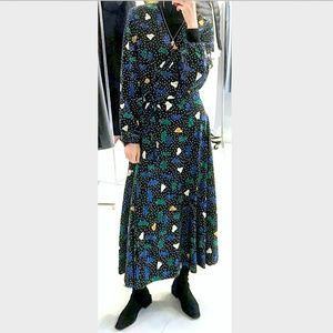 NWT printed maxi dress